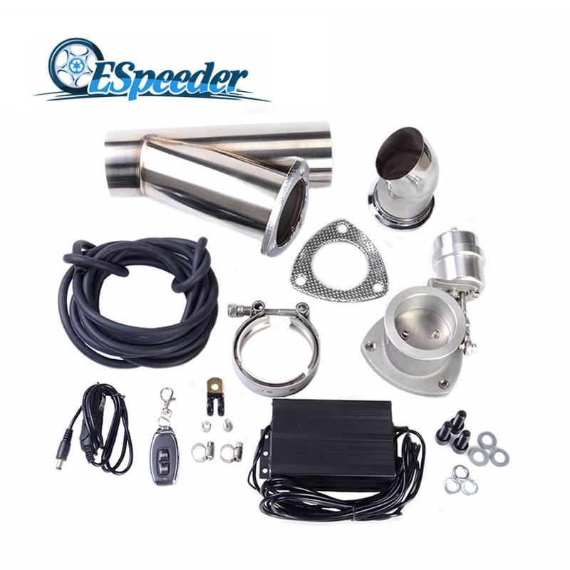 ESPEEDER 2 5Inch Vacuum Exhaust Cutout Pump With Exhaust Control Valve Set Close Style Wireless Remote