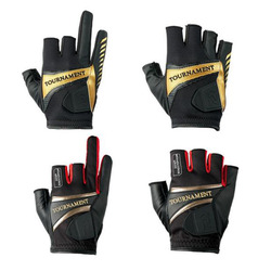 2017 New Top Quality Anti Slip Fishing Gloves Three Five Cut Finger Leathe Outdoor Sports Slip-resistant Fishing Gloves