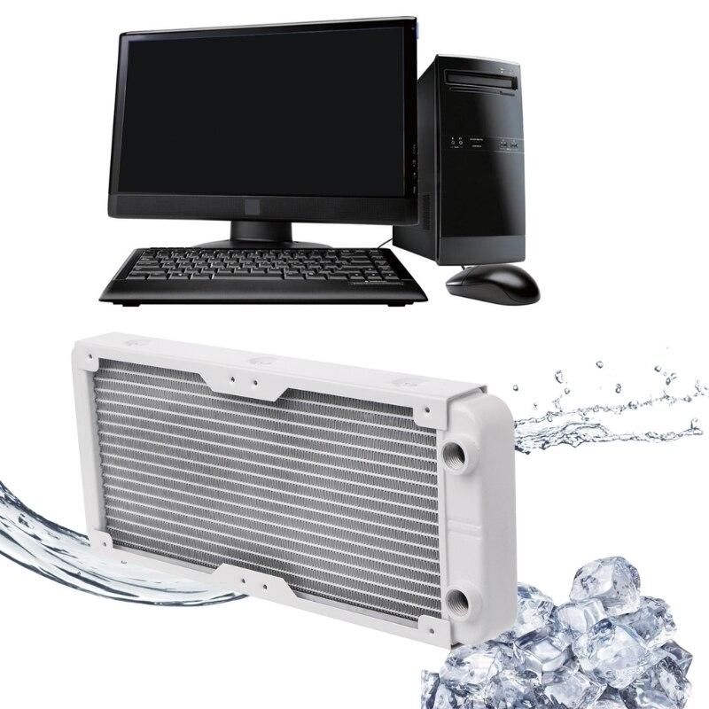 240 мм Алюминий компьютер радиатор водяного охлаждения Cooler 18 трубка Процессор радиатор теплообменник