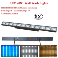 8Pcs/Lot 2020 NEW Multi-function LED 100W 4IN1 Wash Wall Lights DMX512 Running Horse Point Control For Dj Bar Disco Party Lamp
