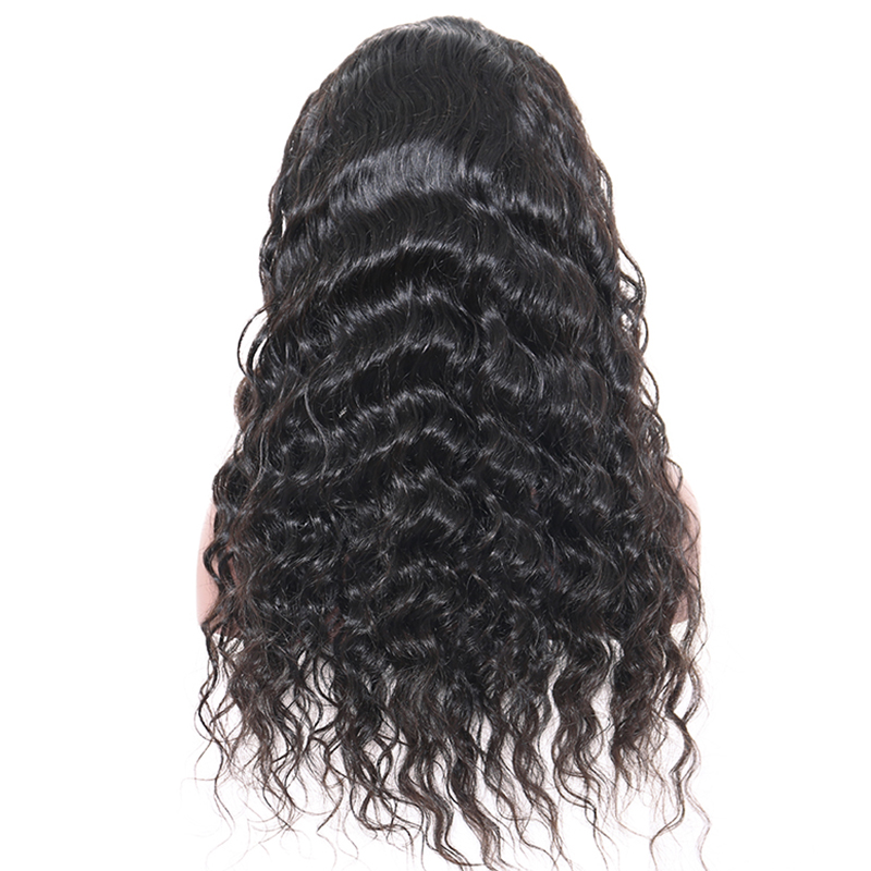 Silk Top Full Lace Human Hair With Baby Hair 180% Brazilian Loose Wave Human Hair Wigs Pre-Plucked Natural Black Remy