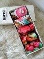 Princesa dulce lolita calcetines de algodón calcetines 5 pares de calcetines del tobillo de impresión conjunto desierto pastel de Helado de regalo de cumpleaños para las niñas