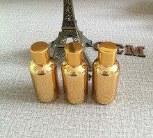 Golden luxury 20ml essential oil sample bottle with aluminum screw cap wholesale,special 20ml glass essential oil perfume bottle the marubi 20ml