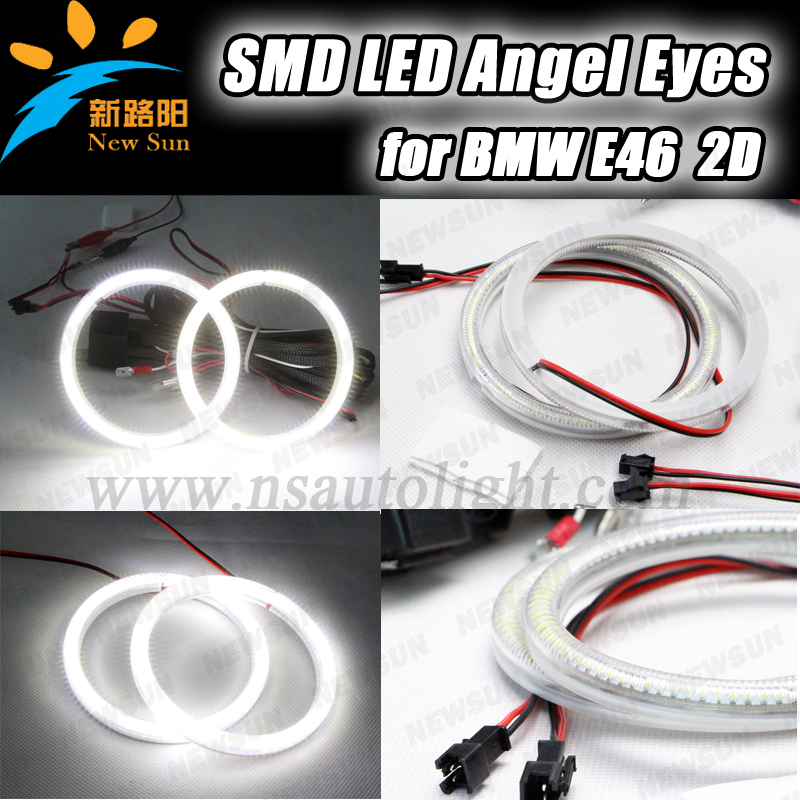 Super bright hot selling SMD led ring angel eyes for BMW E46 2D/E87 105mm halo ring angel eyes