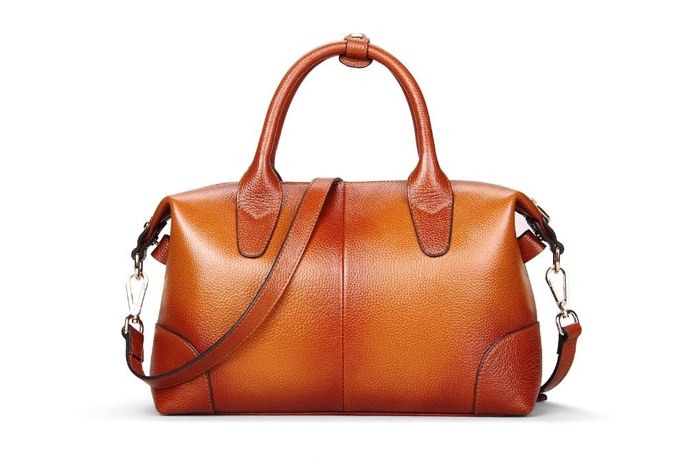 ФОТО High Quality Women Bag Genuine Leather Women Shoulder Bag Fashion LadiesMessenger Bag Large Capacity