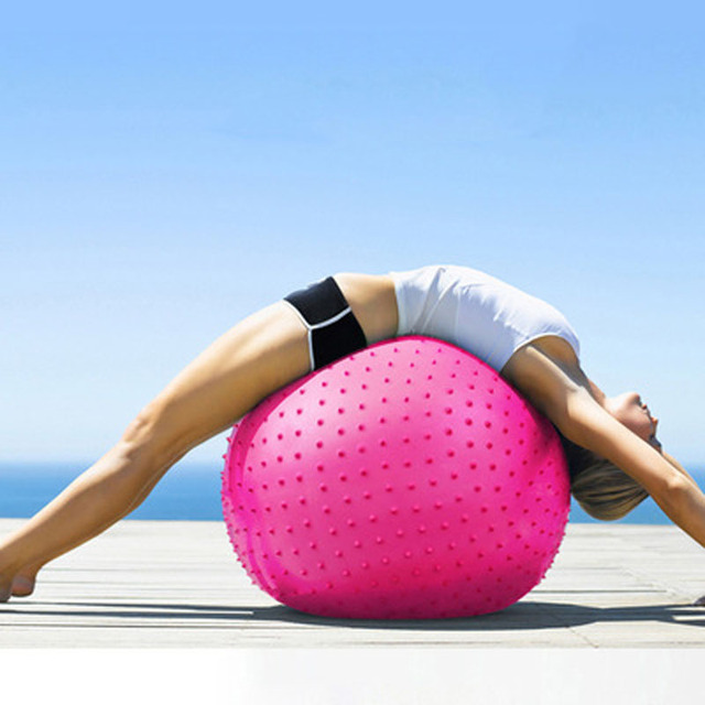 65CM Yoga Ball Pilates Balance Inflatable Massage Ball For Women And Men Thick Anti-Explosion Pregnant Weight Loss Fitness Ball