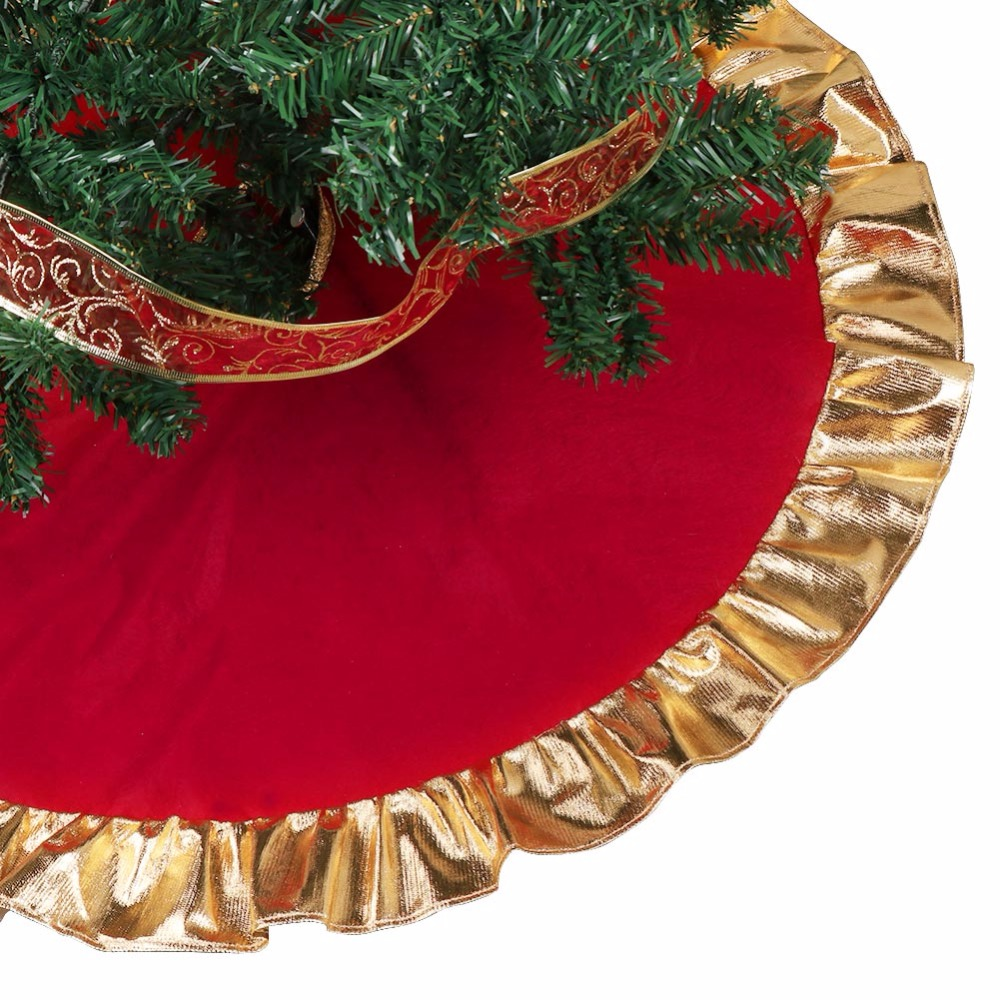 Aliexpress.com : Buy Ourwarm 1pc 90cm Red Christmas Tree Skirt ...