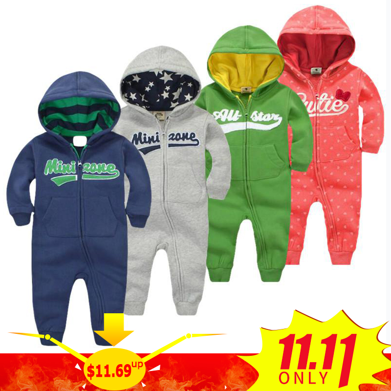 2018 spring Baby rompers Newborn Cotton tracksuit Clothing Baby Long Sleeve hoodies Infant Boys Girls jumpsuit baby clothes boy 2018 new baby rompers baby boys girls clothes turn down collar baby clothes jumpsuit long sleeve infant product solid color