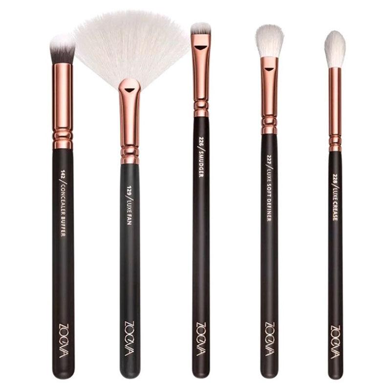 1rose golden complete makeup brush set Powder Liquid Cream Cosmetics Blending cosmetics tool