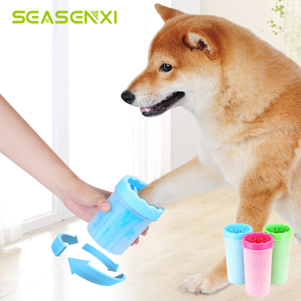 Pet Foot Washer Cup Portable Dog Foot Wash Tools Soft Gentle Silicone Bristles Pet Clean Brush Quickly Cleaning Paws Muddy Feet