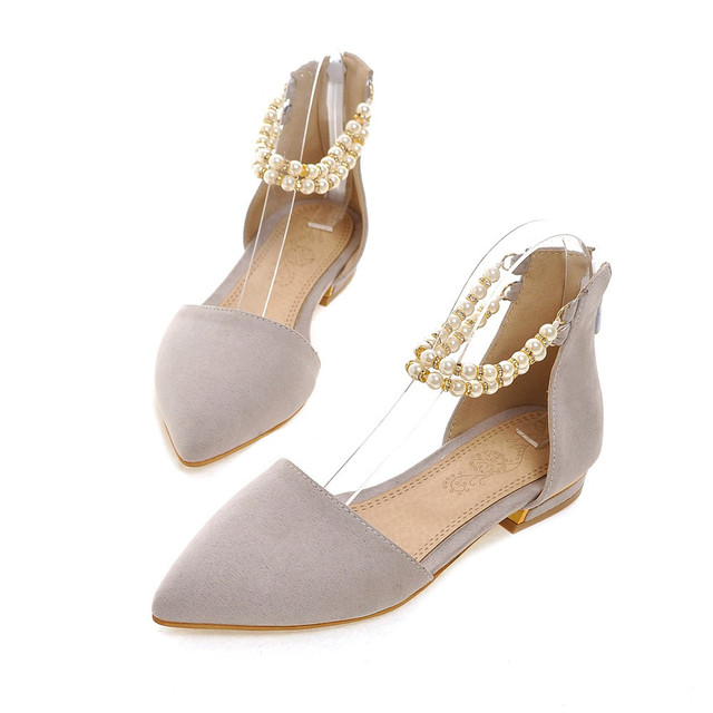 ASUMER black red gray fashion spring autumn new 2018 pointed toe zipper casual single shoes flock women low heels shoes