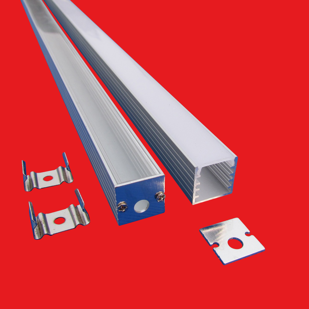 10pcs 3 3ft 1m each led bar light housing Square Linear Led aluminum profile with Cover