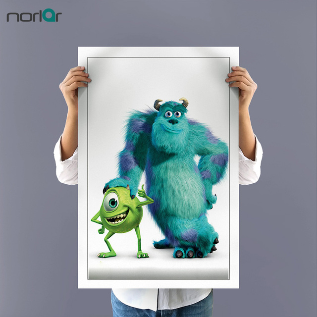 Monsters Inc Mike and Sulley Unframed Canvas Painting Pop Art ...