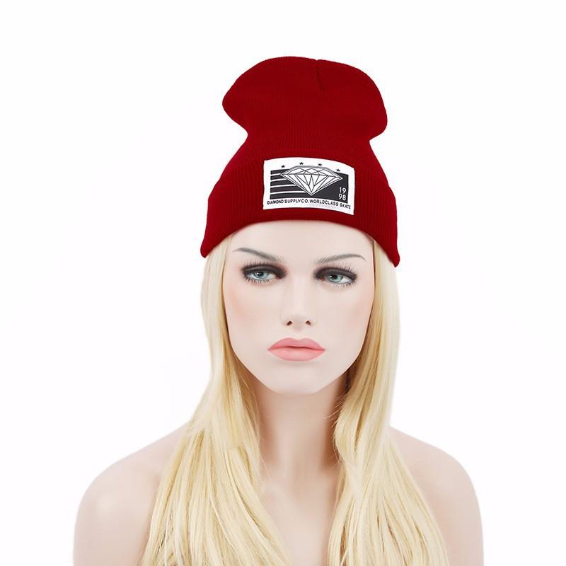 2015 del sombrero del invierno moda de punto Gorros estándar de ...