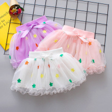 Summer Baby Girl Clothes Pink Cake Tutu Skirt Kids Princess Tulle Skirts Party Dance Pettiskirt Print Five Pointed Star Clothing бордюр adex neri rodapie clasico biscuit 15x15