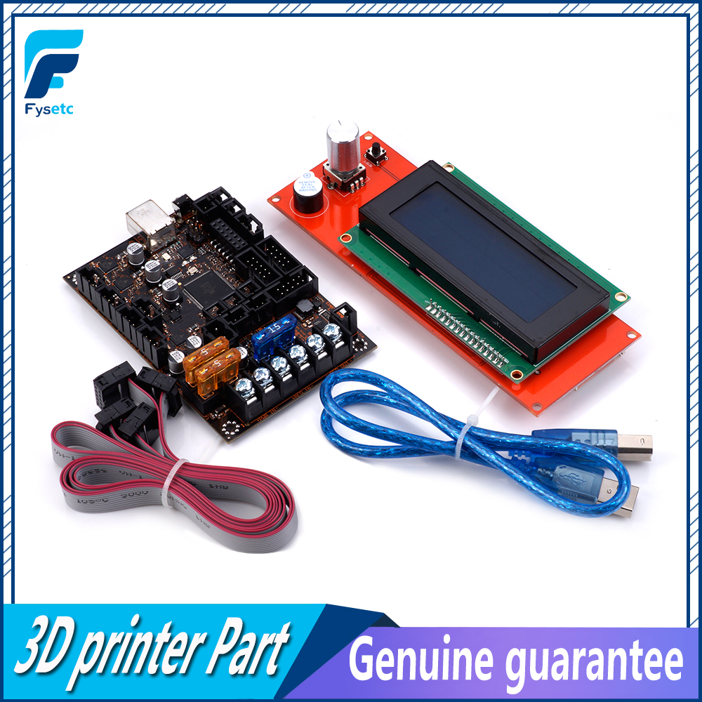 EinsyRambo 1.1a Mainboard For Prusa i3 MK3 With 4 Trinamic TMC2130 Control 4 Mosfet Switched Outputs + 2004 LCD Display-in 3D Printer Parts & Accessories from Computer & Office