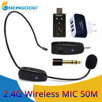 2.4G Wireless Microphone Wireless Headset MIC For Voice Amplifier Computer Lavalier Microphone Professional Teachers