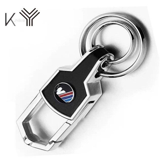 kunbaby leather metal keychain for bmw keyring m logo key chain e46