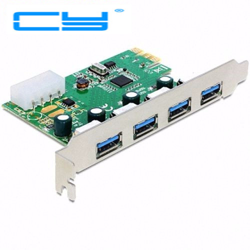 VIA chip USB3.0 USB 3.0 4 ports PCI-E pcie pci Express adapter Controller Card 5Gbps with bracket