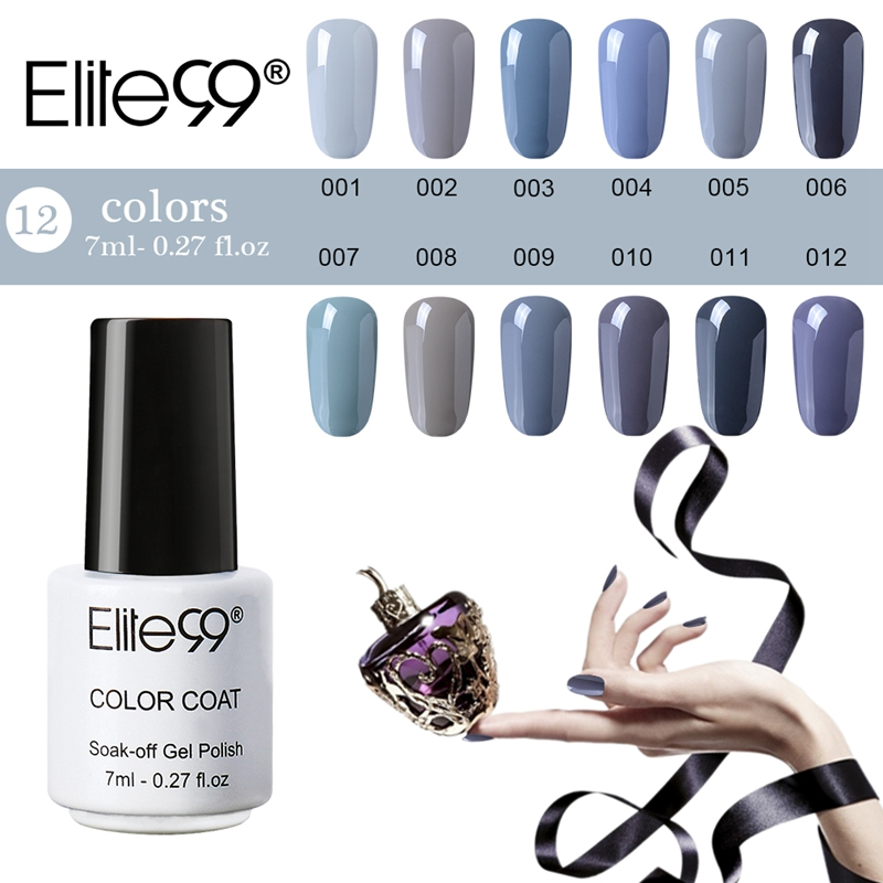 Elite99 7ml Long Lasting Uv Gel Nail Polish Gray Series Lacquer Cured With Led L Diy Art Manicure Gelpolish Aliexpress