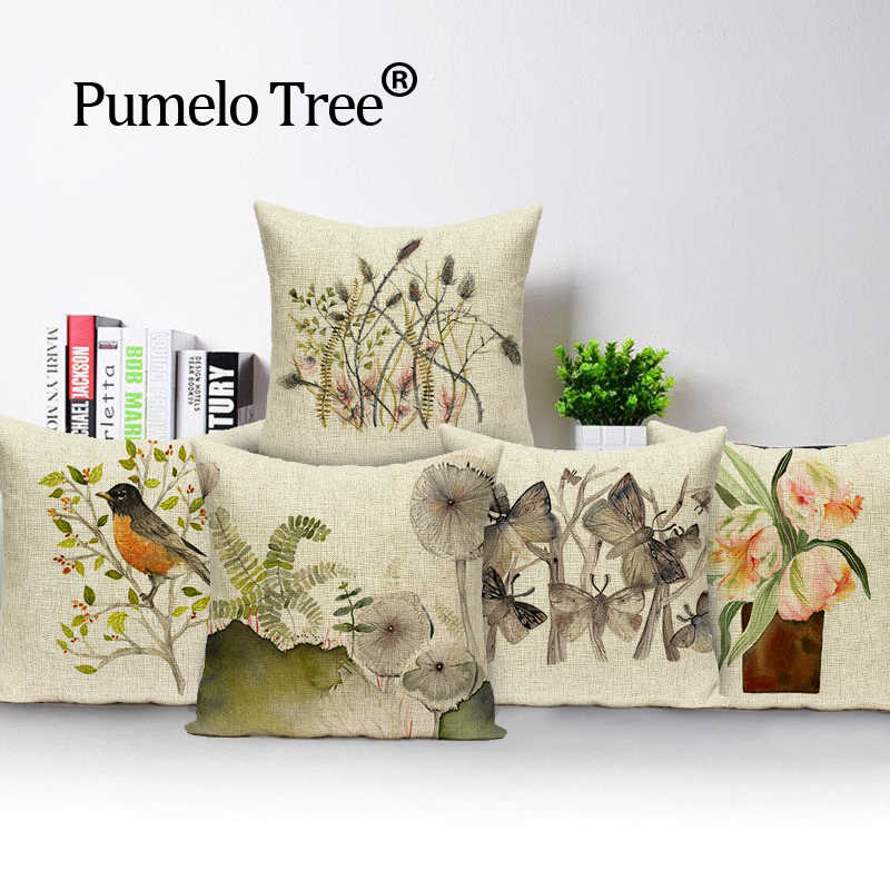 farmhouse pillow covers flower colorful outdoor cushions high quality throw pillows linen cover decorative custom cover cushion