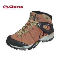 71288df2c0b Clorts Genuine Leather Hiking Boots Vibram Authorized Rubber Outsole  Anti-skid Mountain Shoes Waterproof Hiking Sneakers