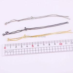 Image 5 - 20PCS Gold/Schwarz/Rose Gold/Silber Farbe Kette Armband Einstellbar Kette Macrame Armband Für DIY Frauen schmuck
