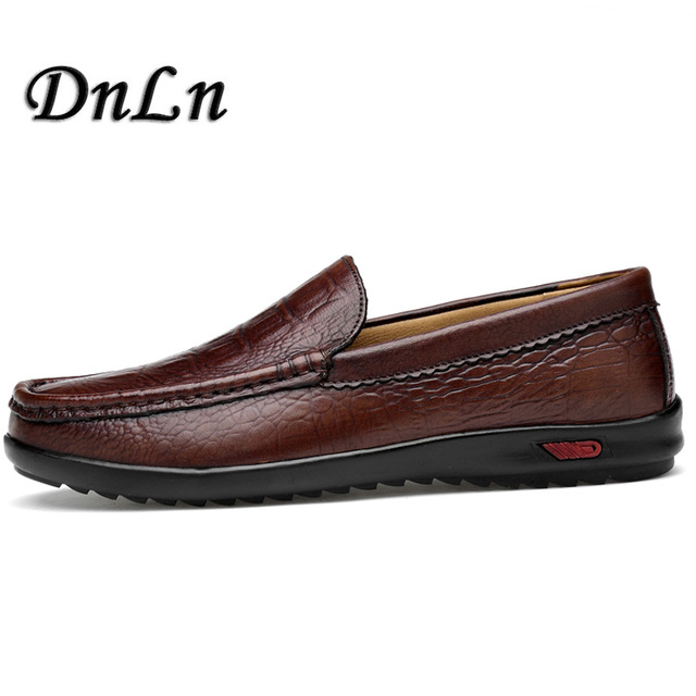 027193259b7 Men Dress Shoes Luxury Brand 2018 Italian Fashion Men Loafers Soft Leather  Mens Lazy Boat Shoes Slip On Moccasins Flats 30D50