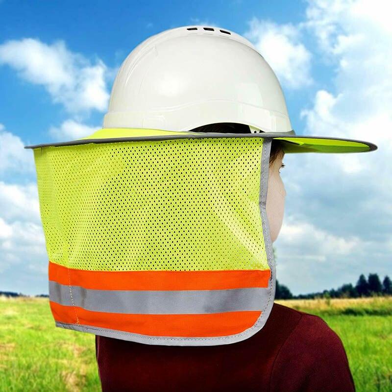 Arbeitsplatz Sicherheit Liefert Ehrlich Sonne Schild Für Harte Hut Hohe Sichtbarkeit Reflektierende Voller Krempe Mesh Sonne Schatten Neck Schutz Xxm8