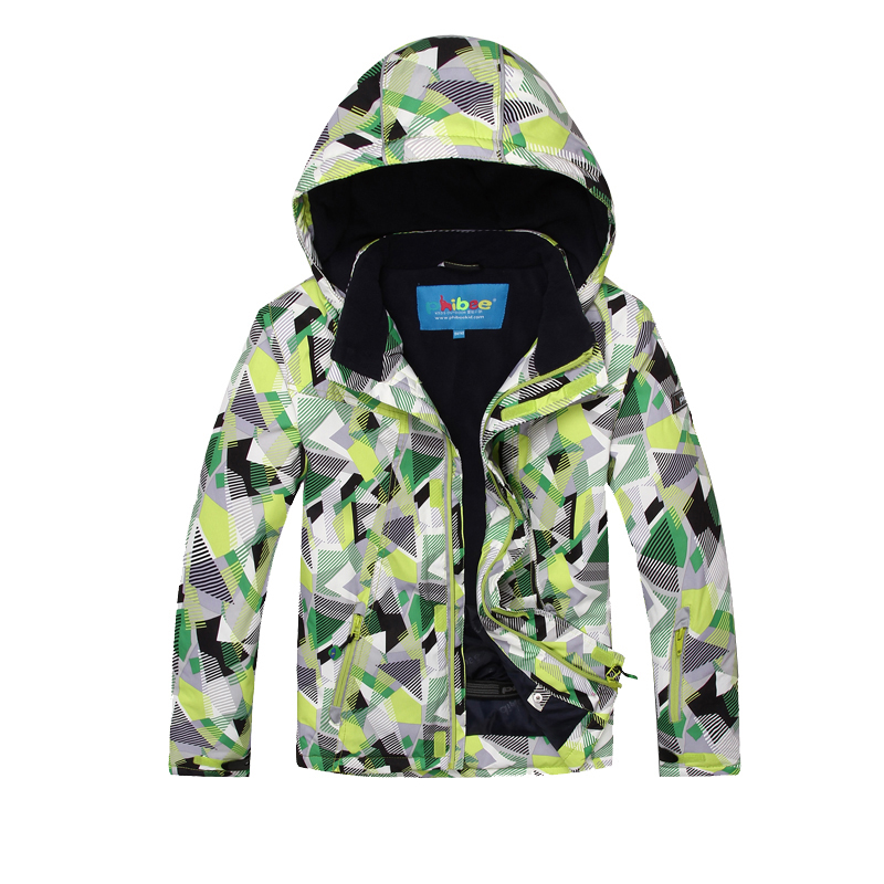 New Arrive Kids Waterproof Outdoor Sport Ski Snowboard Winter Jacket Boys Girls Hooded Windbreaker Snow Coat Children 6-16 Years 2015 new arrive super league christmas outfit pajamas for boys kids children suit st 004