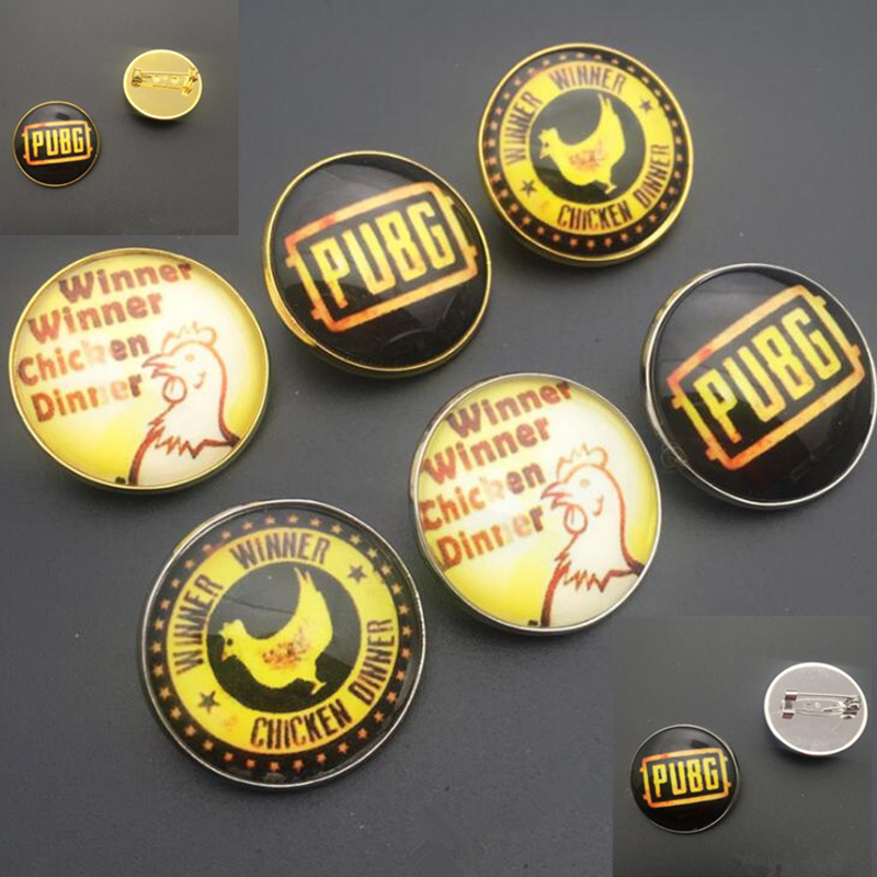 Game PUBG Badge PLAYERUNKNOWN'S BATTLEGROUNDS metal Luminous brooch cosplay costume Accessories prop