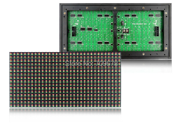 P10 Открытый Красный + Зеленый Двухцветный СВЕТОДИОДНЫЙ Дисплей Модуль, водонепроницаемый P10 Двойной Цвет 1R1G СВЕТОДИОДНЫЙ Модуль