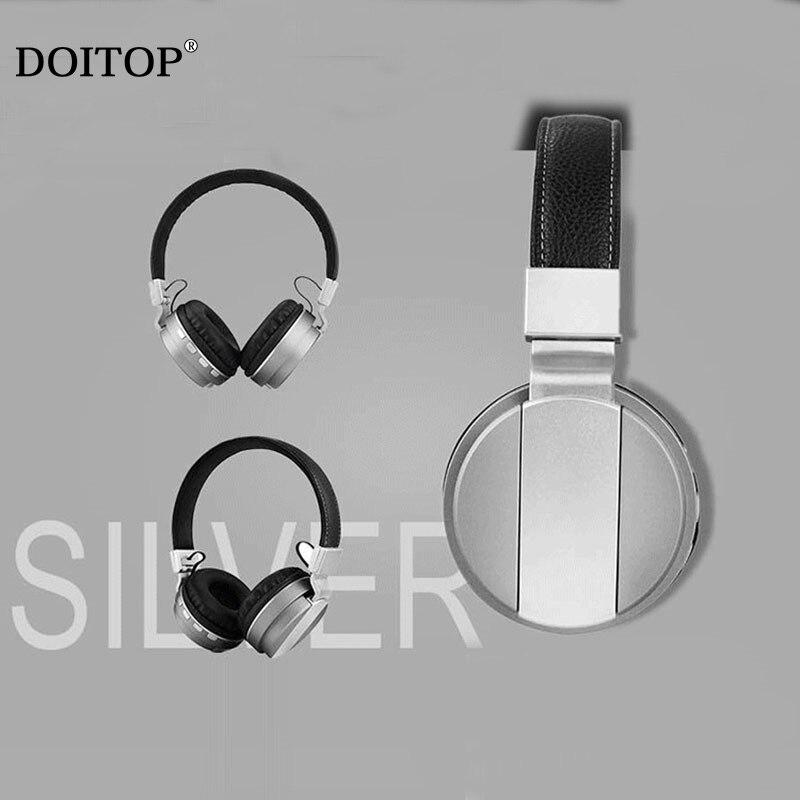 DOITOP Foldable Bluetooth Headphones Wireless sport headphone Stereo bluetooth headset For Xiaomi Leather earplugs Headphones 04 kz headset storage box suitable for original headphones as gift to the customer