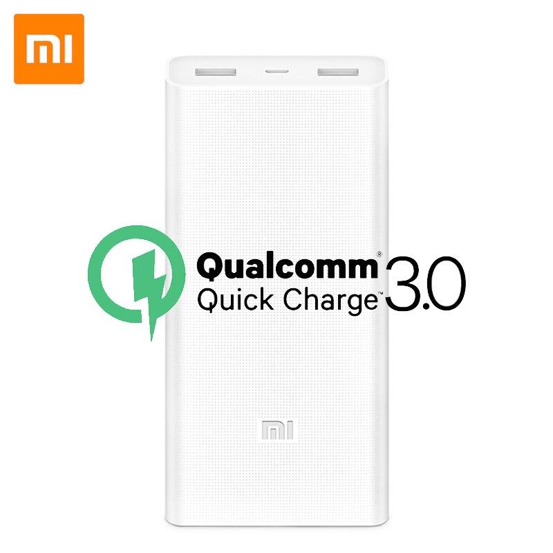 100% Original Xiaomi Power Bank 20000mAh Portable Charger Aluminium Alloy Powerbank Cell Dual USB for Phones Tablets usb battery bank charger