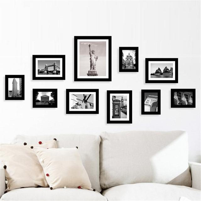 10Pcs Family Picture Multi Photo Frame Set Holds 10 Photos Aperture ...
