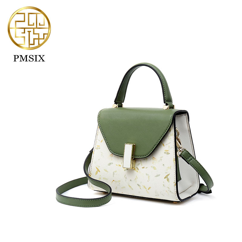 Pmsix New Brand Women Leather Handbag Luxury Shoulder Bag Women's Bags Female Bag Tote Lady Bag Luxury Handbags Designer P120128 foxer brand women s cow leather handbags female shoulder bag designer luxury lady tote large capacity zipper handbag for women page 1