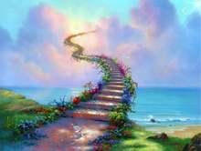 5d diy Алмазная картина красивая лестница пейзаж алмазная вышивка