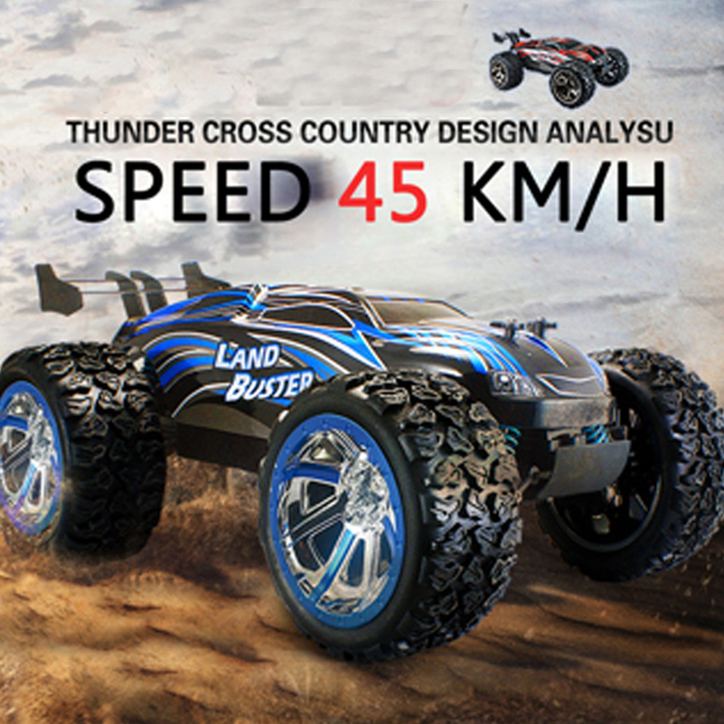 2.4Ghz 4WD High Speed RC Car Remote Control Cars Toys Rock Crawler Off Road Dirt RC Toys Truck Big Wheel Car for Kid Gifts