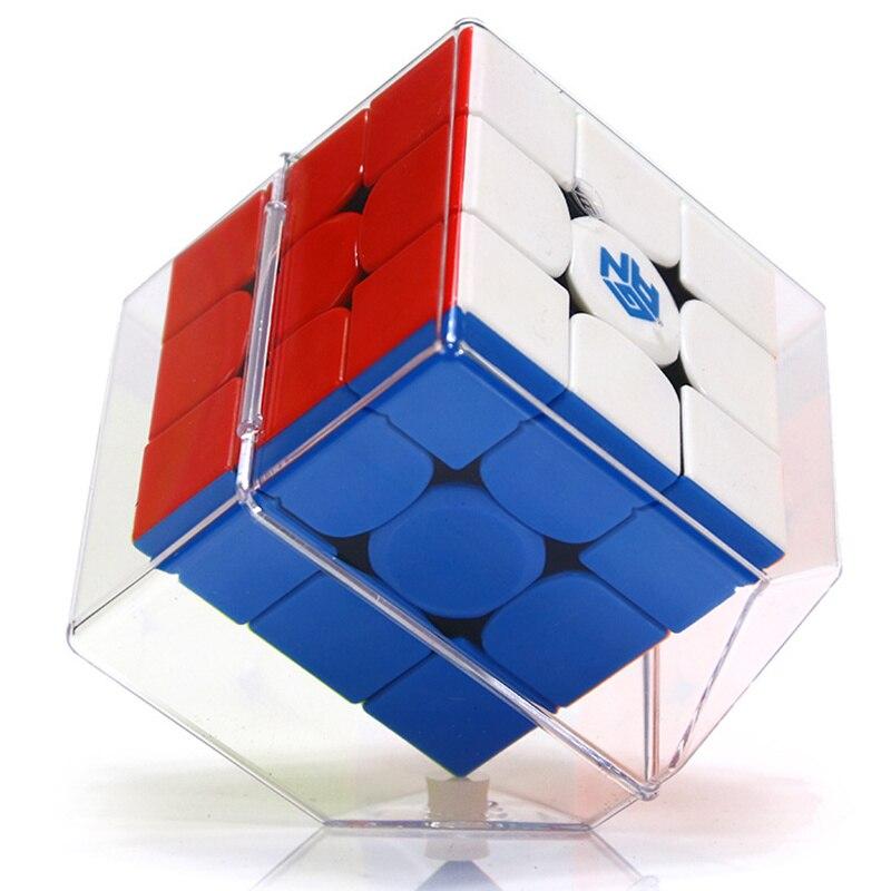 GAN354M 3x3x3 Cube magique sans autocollant avec aimant Gan 354 M Puzzle vitesse Cube pour WCA professionnel Cubo Magico Gan 354 M jouets