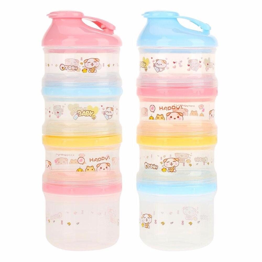 Aufbewahrung Von Säuglingsmilchmischungen Tragbare Fach Kinder Milchpulver Flasche Kinder Cookies Mutter Desserts Container Sicher Für Kinder Baby Milch Container 4 Schichten Mutter & Kinder