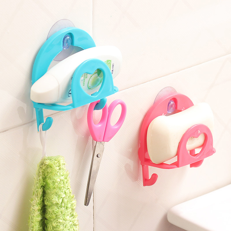 1Pc Kitchen Sponge Debris Rack Storage Kitchen Utensils Storage Box Holder Sucker Hanging Holder Kitchen Knives & Accessories