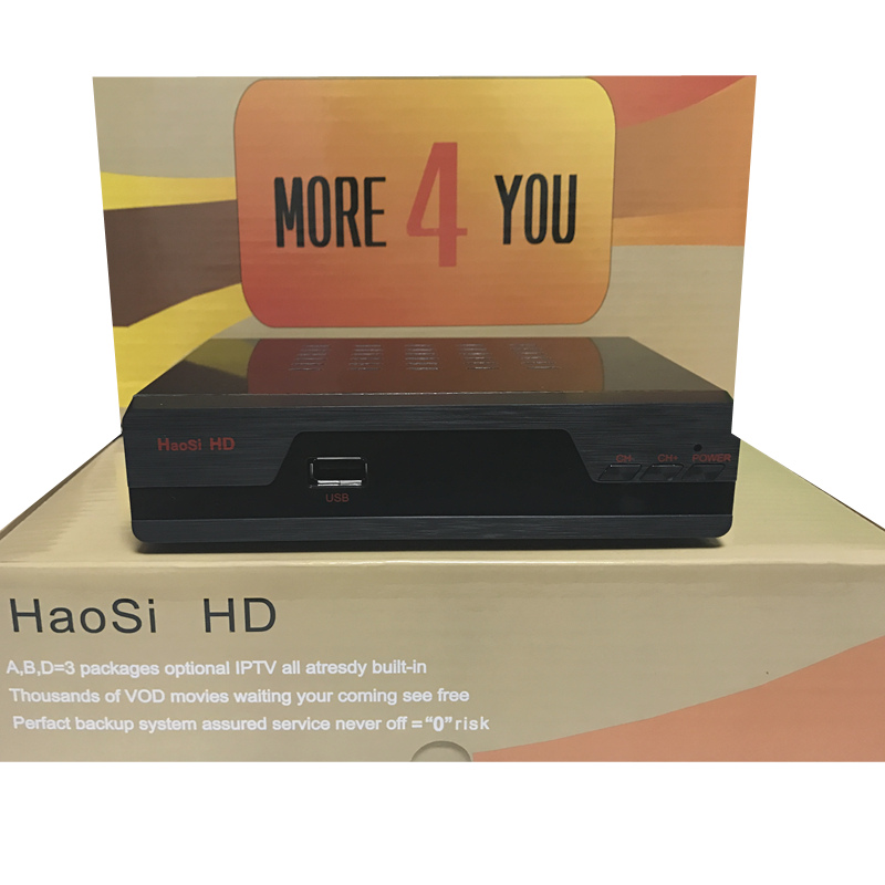 цена на IPTV tv box HaosiHD satellite receiver with Iptv europe 1 year account free3300 Arabic Italy Sweden UK French Germany africa chs