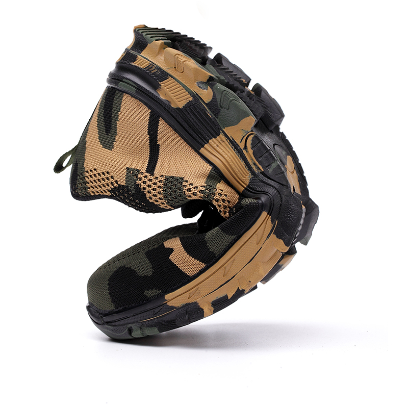 ZYYZYM Men Work Safety Boots Plus Size Outdoor Steel Toe Cap Military Shoes Men Camouflage Puncture Proof Army Boots in Work Safety Boots from Shoes