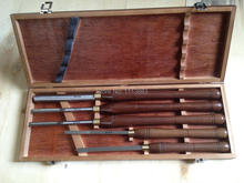 5PCS Wooden Turning Tools SET H.S.S Blade & American Walnut Handle in Box