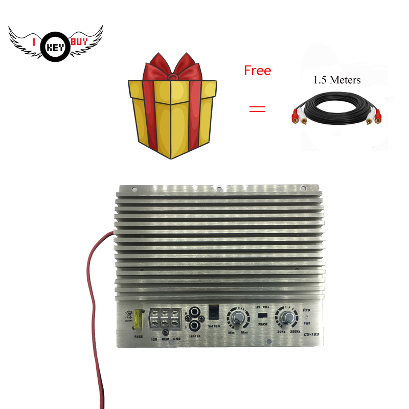 I Key Buy HiFi-End Super-Power 1000W 12V Car Amplifier Bass Subwoofer Booster Auto Amplifiers Silver