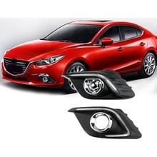 Señal de vuelta de la Luz y el estilo de Regulación de relé de 12 V del coche LED DRL daytime las luces de marcha con agujero niebla de la lámpara para Mazda 3 axela 2014 2015
