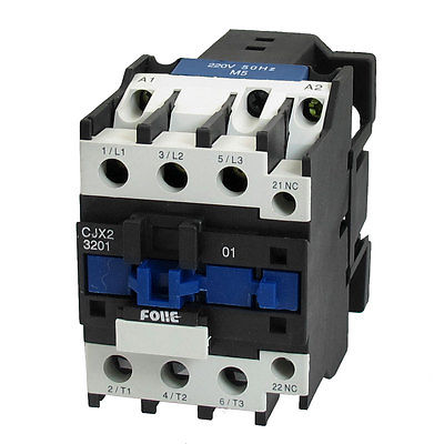 CJX2-3201 110V Coil DIN Rail 3P Three Pole 1NC AC Contactor 50//60HZ