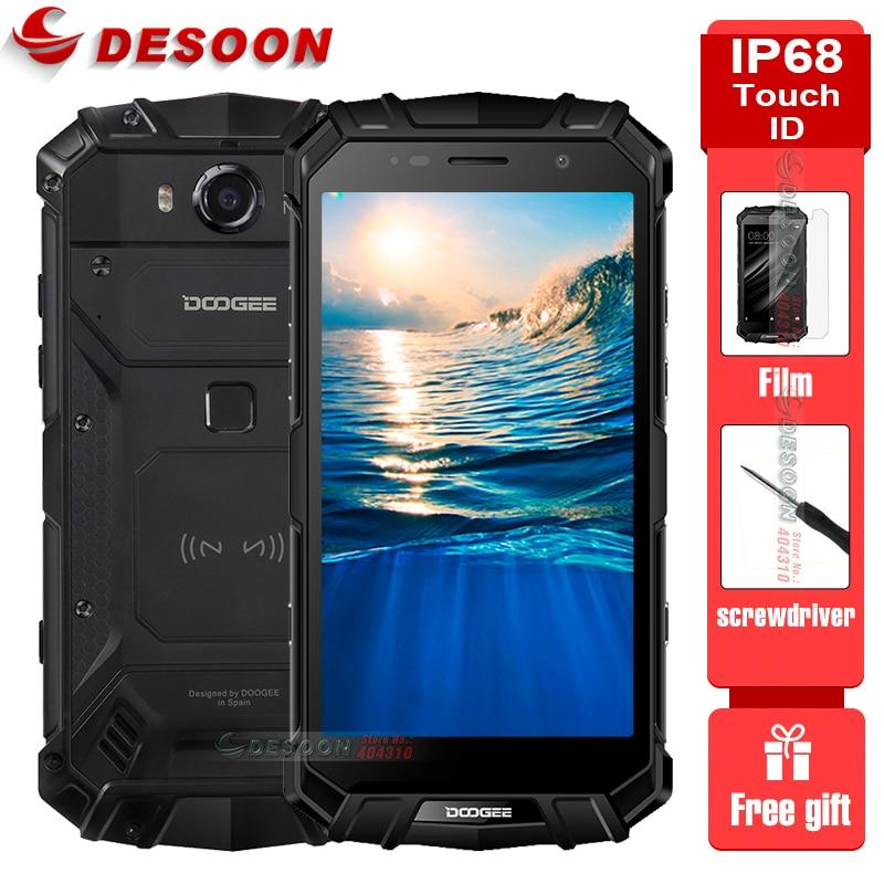 Doogee S60 IP68 Водонепроницаемый мобильный телефон 5580 мАч n Беспроводной заряда 6 ГБ + 64 Гб 21MP 5,2