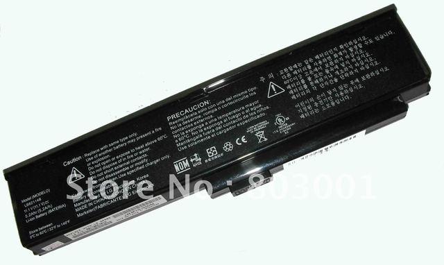 Hot sale 6CELL Replacement Laptop Battery for LG LB52114B LB62114B LB62114E XBA06LG-W20 XBA06LG-W25