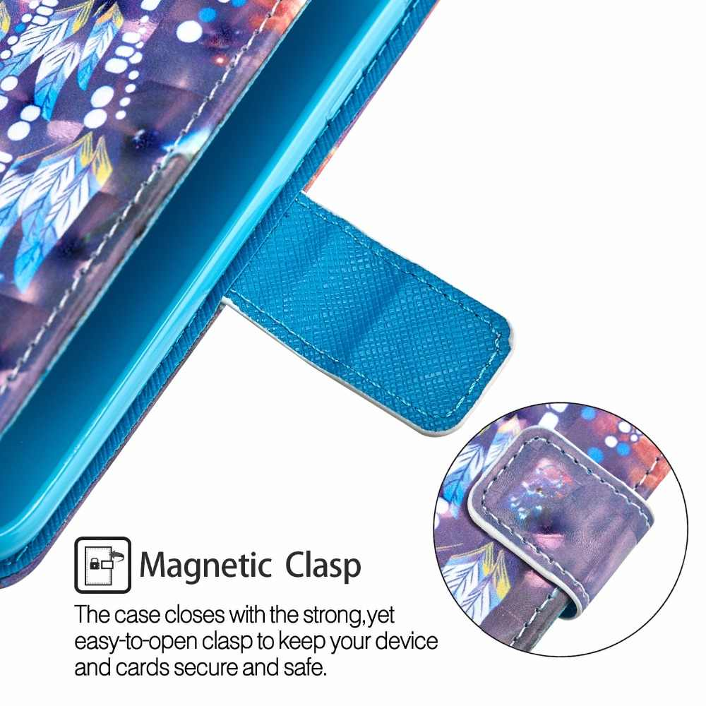 Fundas untuk Apple iPhone X Max iPhone XR Iphonexs iPhone X Flip Penutup 3D Cahaya Glitter Lukisan PU Kulit Ponsel kasus Con Luz